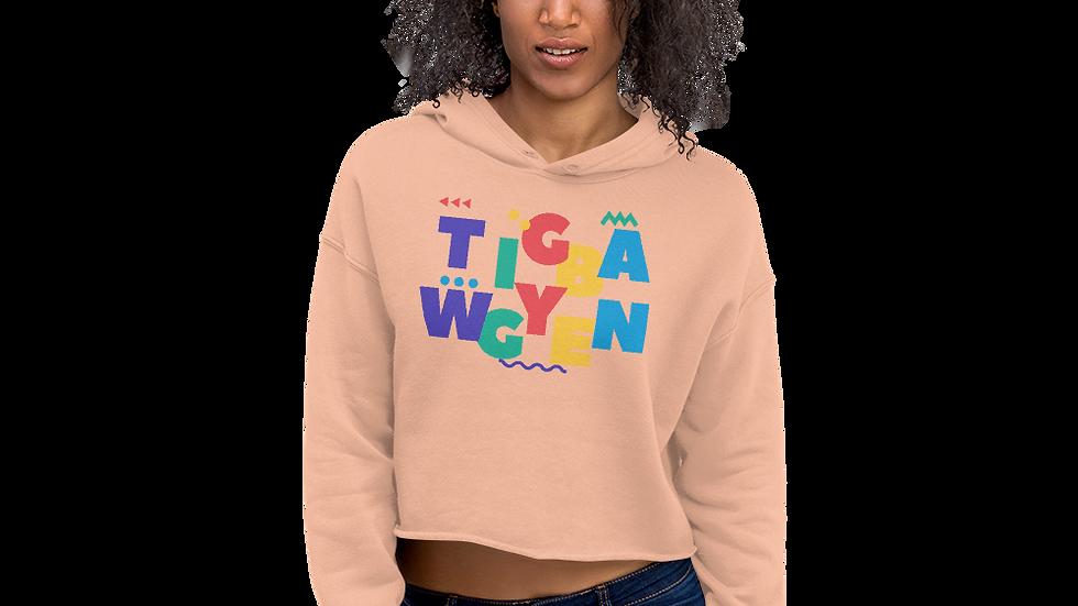 80s TwiggyBean Crop Hoodie