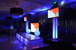 Video DJ Booth with 2 Plasma Screens