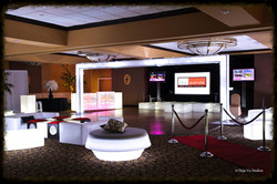 Video Wall, Lounge Decor, Red Carpet