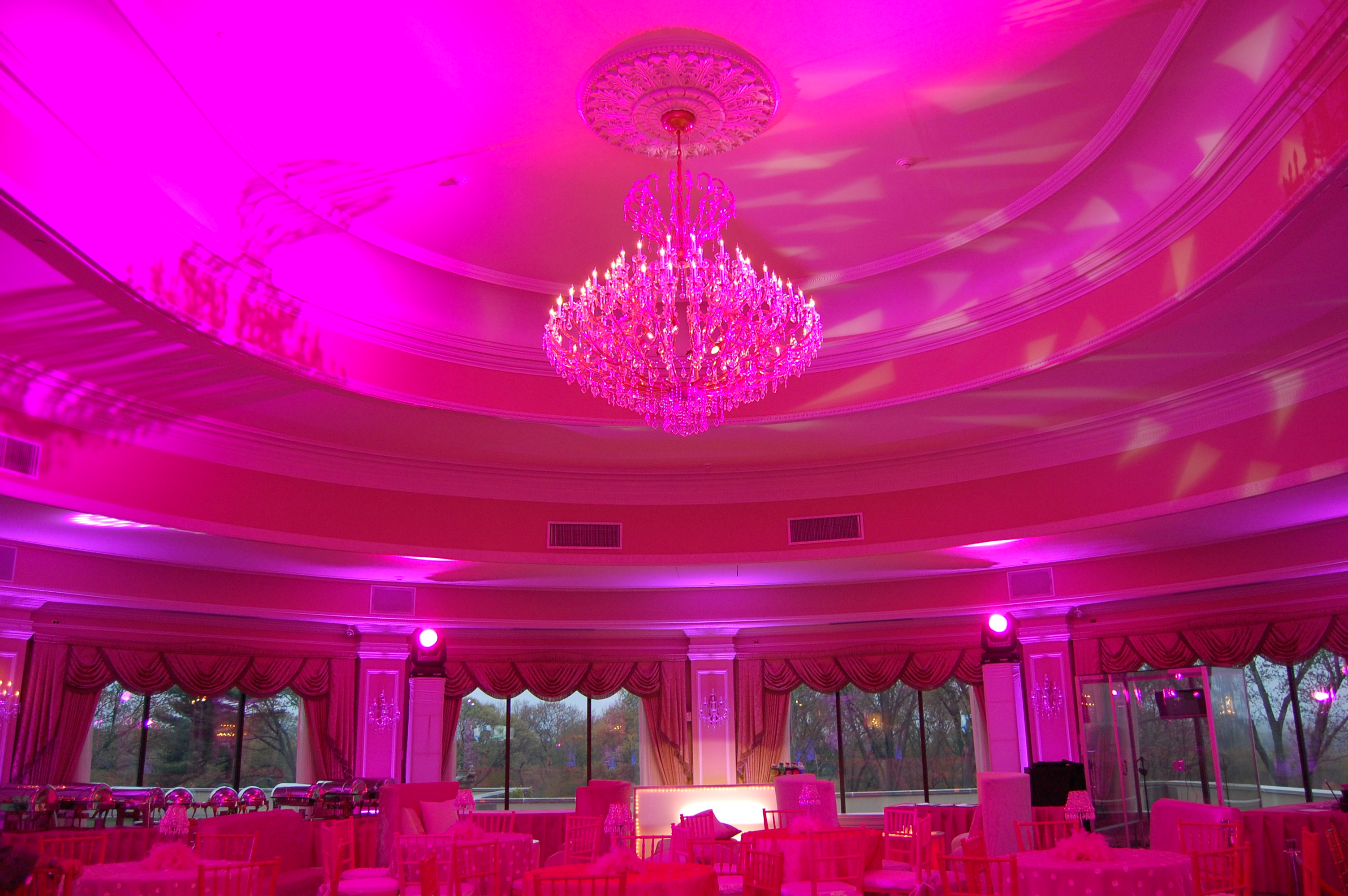 Pink Ceiling Uplighting