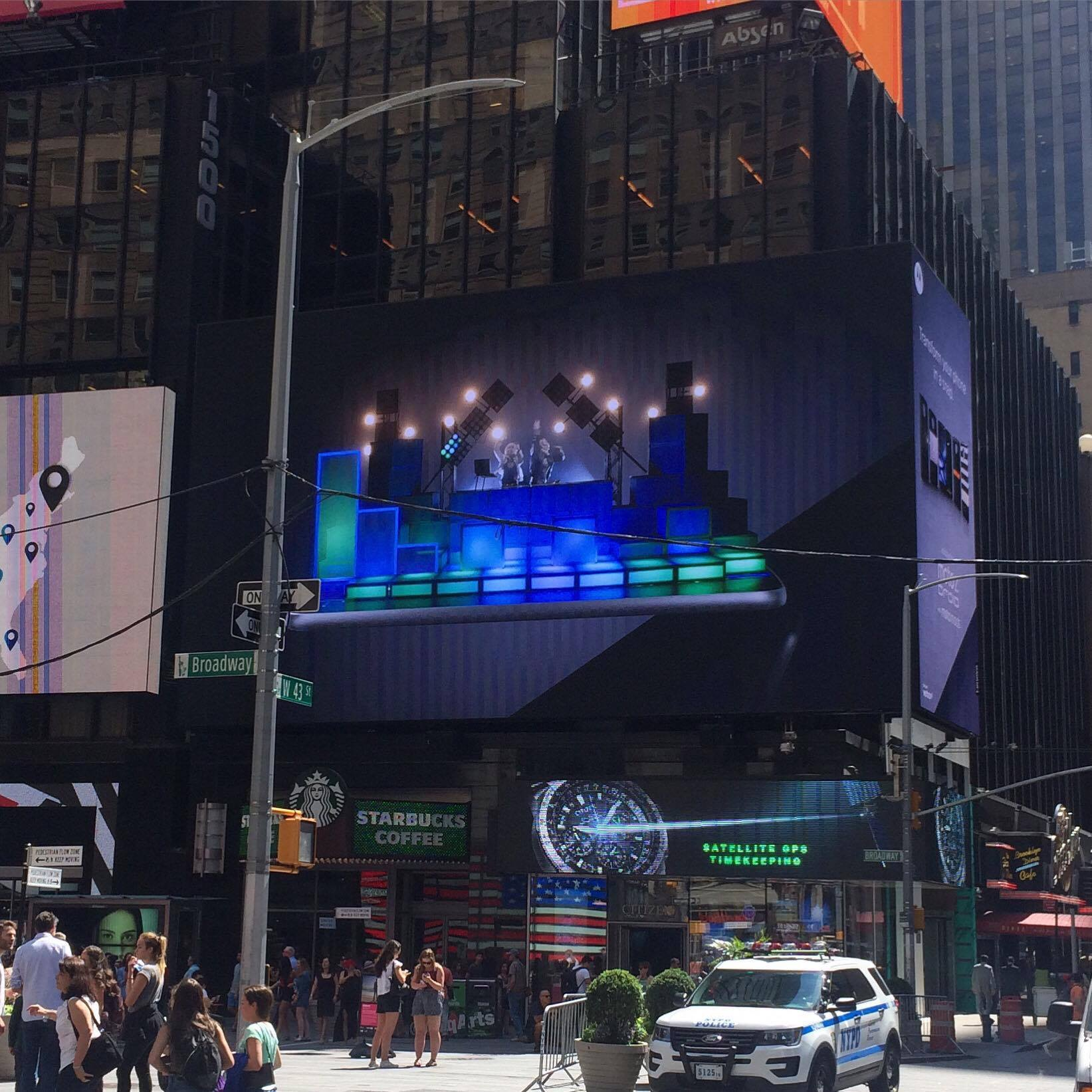 Times Square Displaying one of our setup