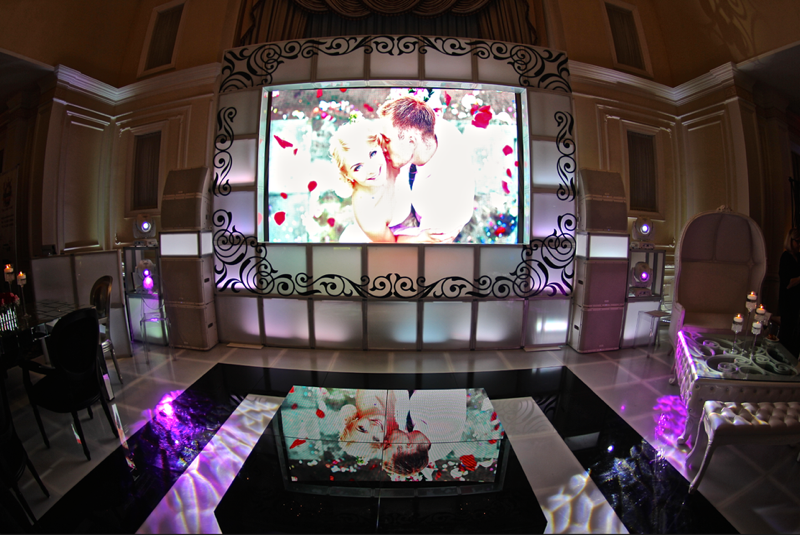 Video Wall Wedding Display