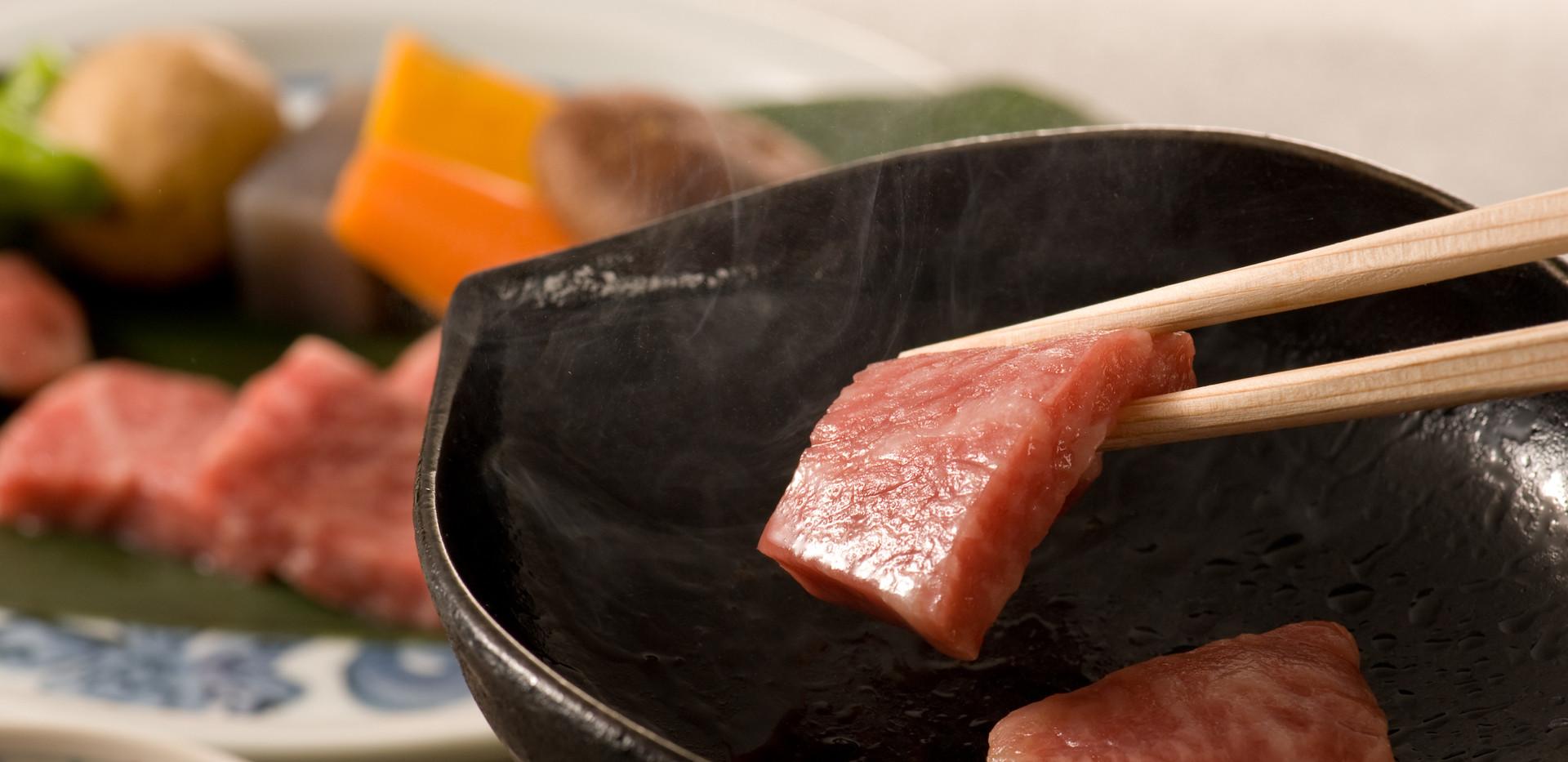 神戸牛鉄板焼一例