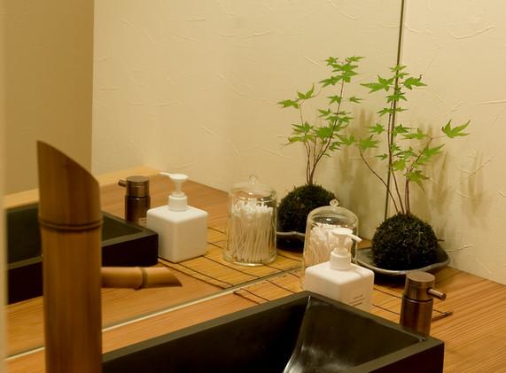 譲葉の湯・洗面所
