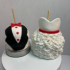WEDDING BRIDE & GROOM GOURMET APPLES