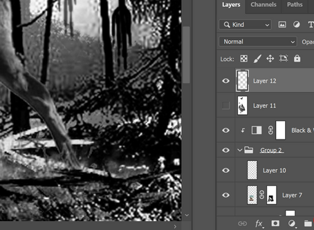 Tutorial on making a tattoo stencil in Photoshop