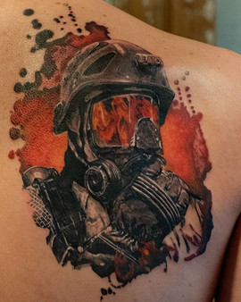 A fireman for a fireman. 😁 #tattoo #tat