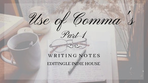 Rules For Use Comma's - Chapter 1
