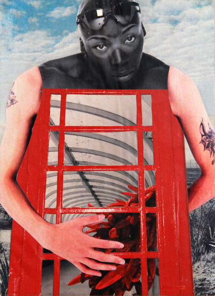 CLINTON GORST. COLLAGE ART.