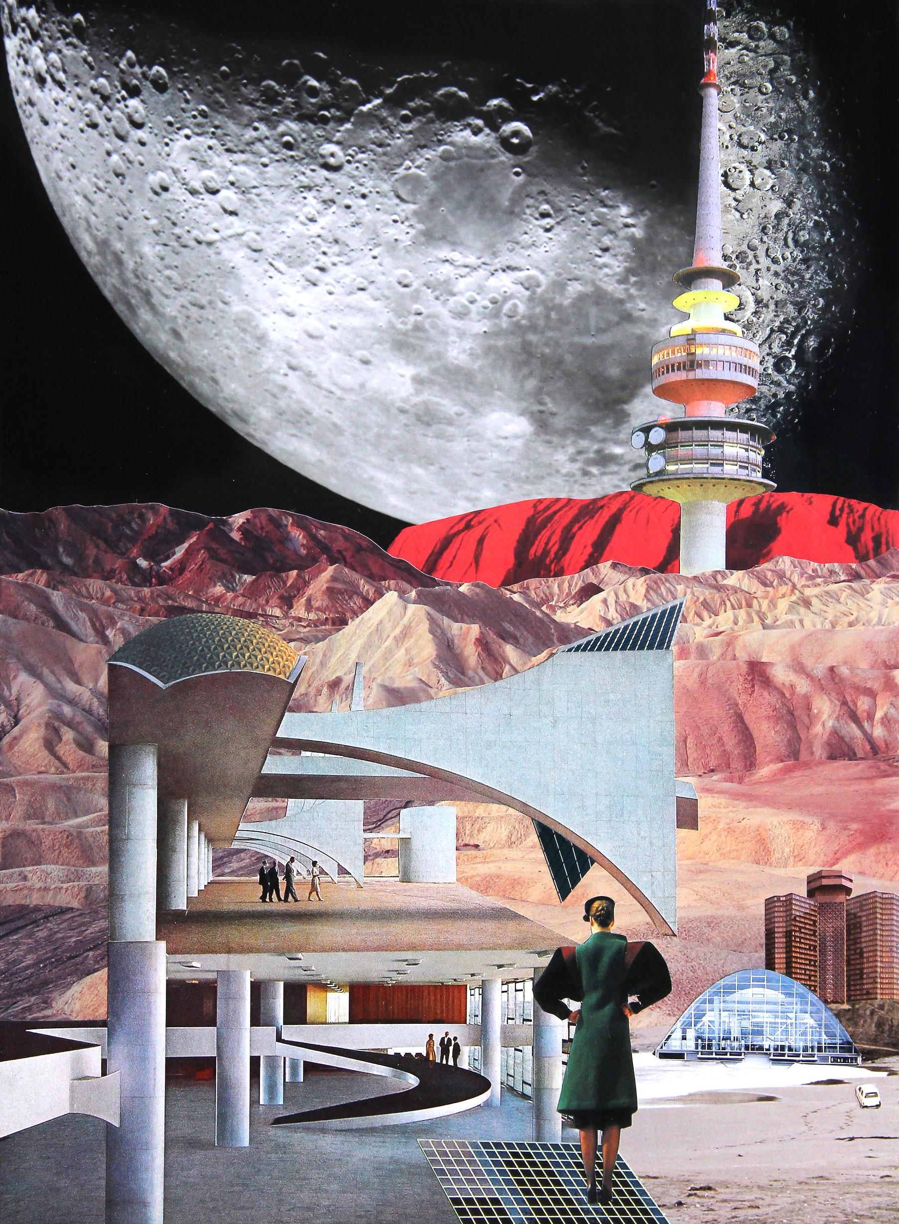 CLINTON GORST. LIFE ON MARS. collage art