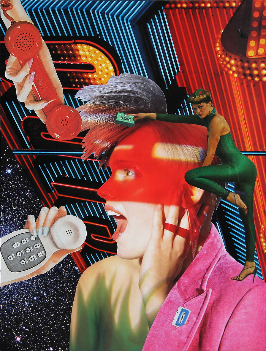 CLINTON GORST. COLLAGE ART. HIT RECORD:T
