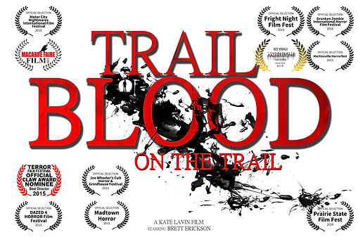 Independent Zombie Film , Still image from horror film Trail Of Blood On The Trail