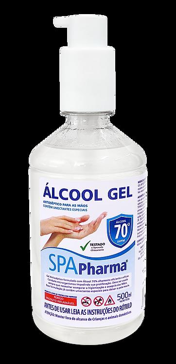 Álcool em Gel 70º SPAPharma - Frasco 500ml c/ Válvula