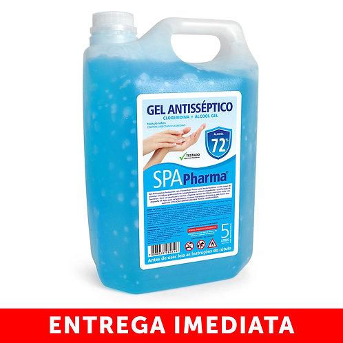 Gel Antisséptico com Clorexidina + Álcool 72% SPAPharma - Galão 5L