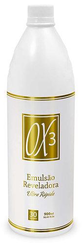 Água Oxigenada Cremosa - Emulsão Reveladora Ox3 Ultrarrápida Pelo de Ouro  900ml