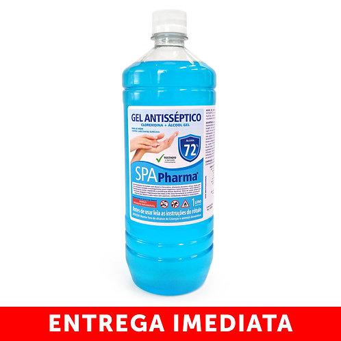 Gel Antisséptico com Clorexidina + Álcool 72% SpaPharma - Frasco 1 litro