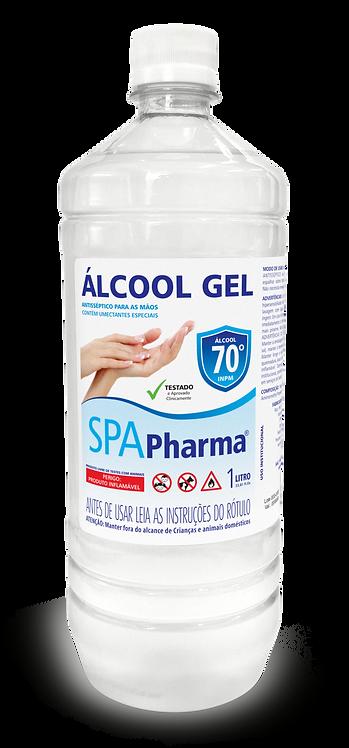 Álcool em Gel 70% SPAPharma - Frasco 1 litro
