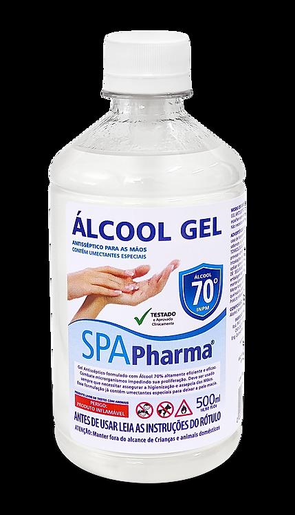 Álcool em Gel 70% SPAPharma - Frasco 500ml