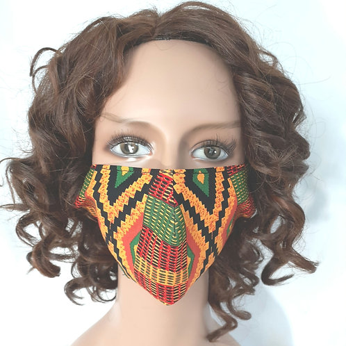African print protective masks.