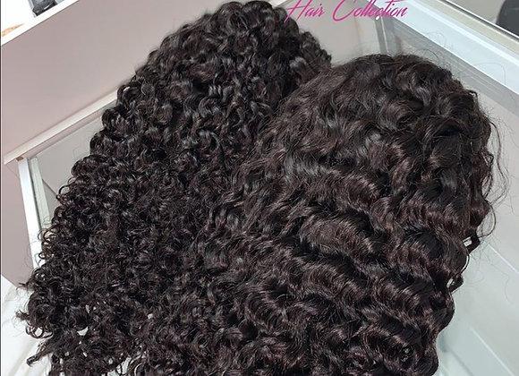 "Brazilian Curly lace front bob 14"""