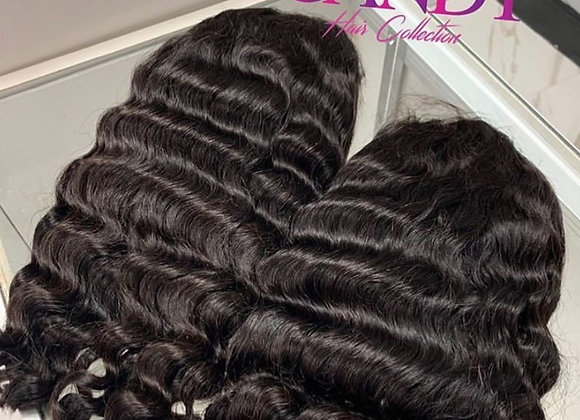 Deep Wave Lace Front Bob Wig