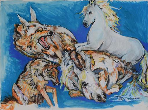 15. Zodra Grijze wolf met zijn staart op de grond had geslagen veranderde hij...