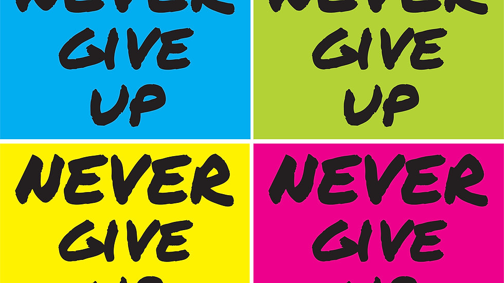 Set of All 4 Never Give Up Yard Signs