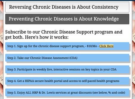 Chronic Disease Support Program - Starts Monday