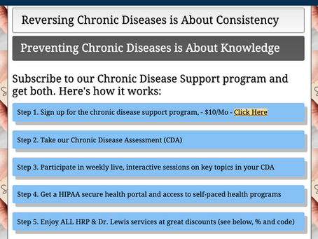 Chronic Disease Support Program - Starts Monday