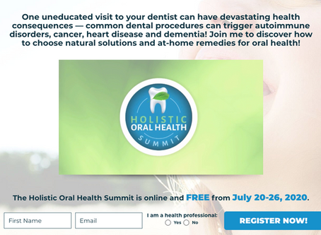Free Holistic Oral Health Summit Ongoing...