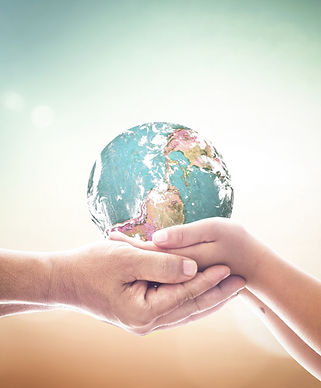 World environment day concept_ Children