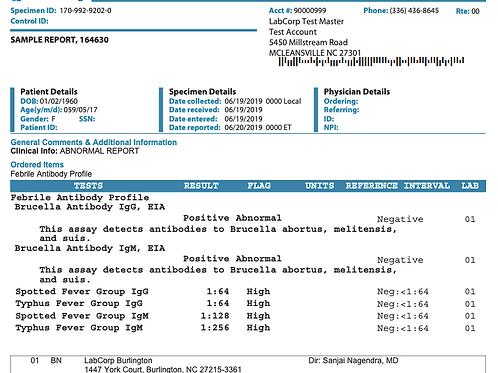 Febrile Antibody Profile