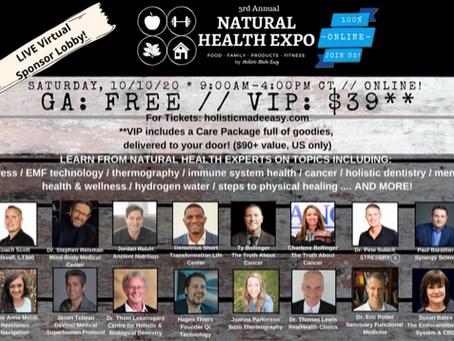 Natural Health Expo - This Saturday