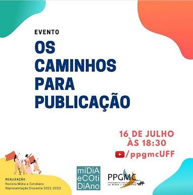 PPGMC/UFF faz live com discentes para falar sobre os caminhos para publicação em eventos e revistas