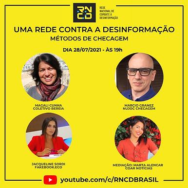 RNCD promove evento online para debater desafios, experiências e métodos de checagem
