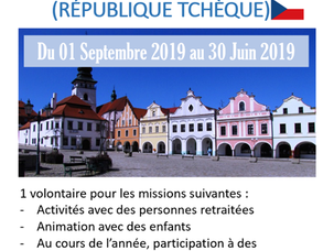 SVE de 10 mois à Pelhrimov (République Tchèque)