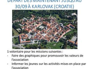 SVE à Karlovak (Croatie) - Urgent