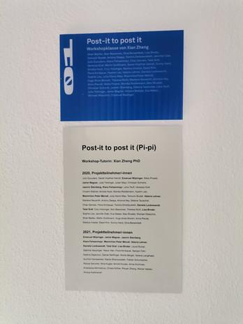 BEST OFF kunstuni linz splace POST-IT TO POST IT Workshop by Xian Zheng PhD