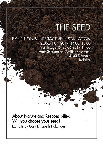 THE SEED Ausstellungs Plakat