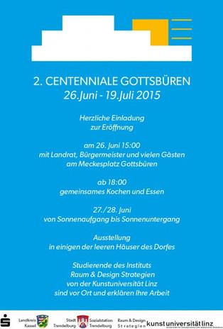 Einladung - 2. Centenniale Gottsbüren