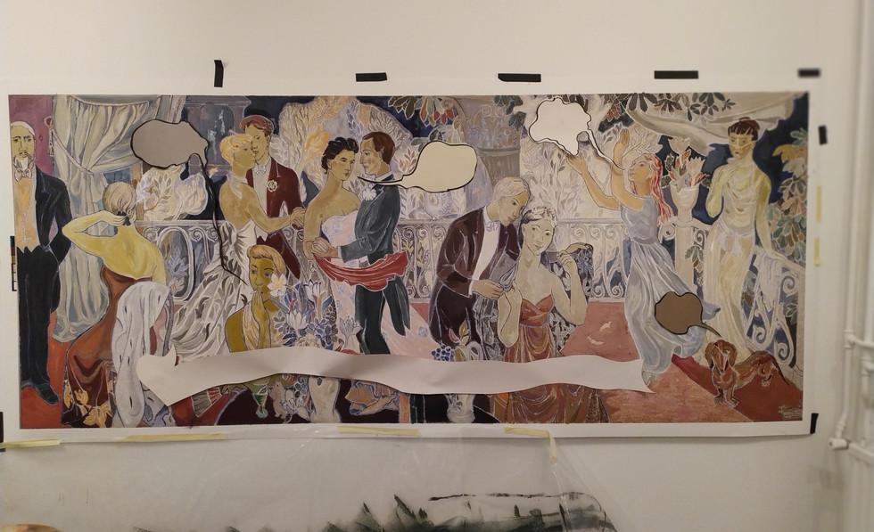 🧑🎨 🎨 Painting Tove's Mural. Oil Painting process. / 🧑🎨 🎨 Pintando al óleo un mural de Tove, la creadora de los #moomins