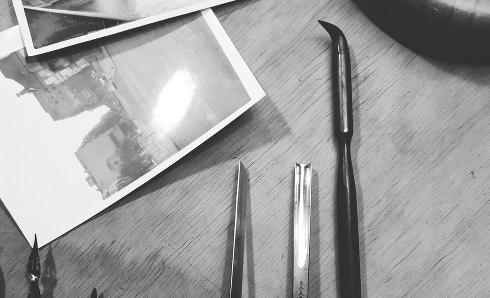 Las herramientas de grabado / Etching tools