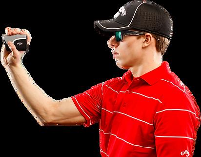 Callaway Golf Rangefinder Micro In Use
