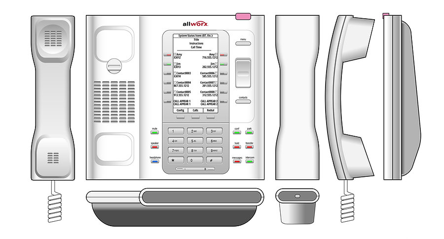 Allworx Verge Phone Orthographics