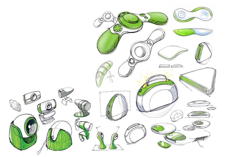 LeapTV Design Sketches