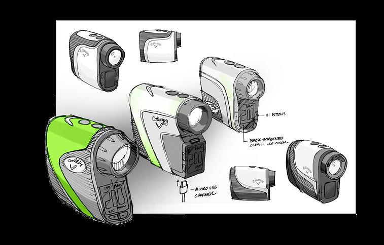 Callaway Golf Rangefinder Hybrid Sketches