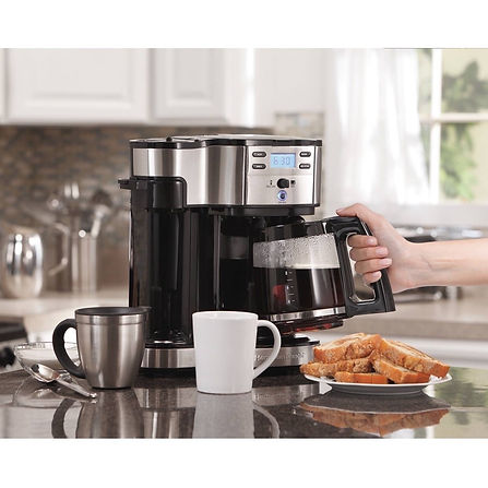 Hamilton Beach Coffee Brewer In Use