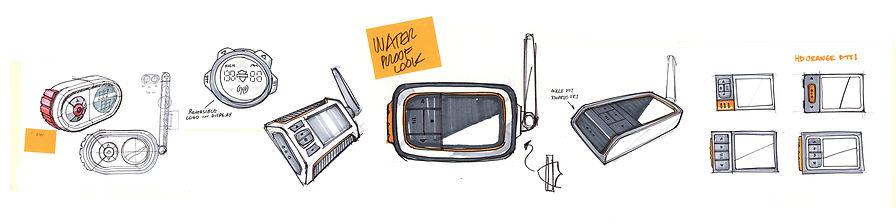 Harley Radio Industrial Design Sketches