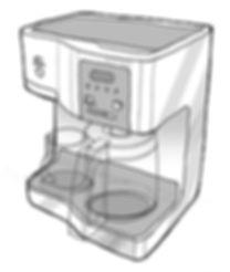 Hamilton Beach Coffee Brewer Sketch
