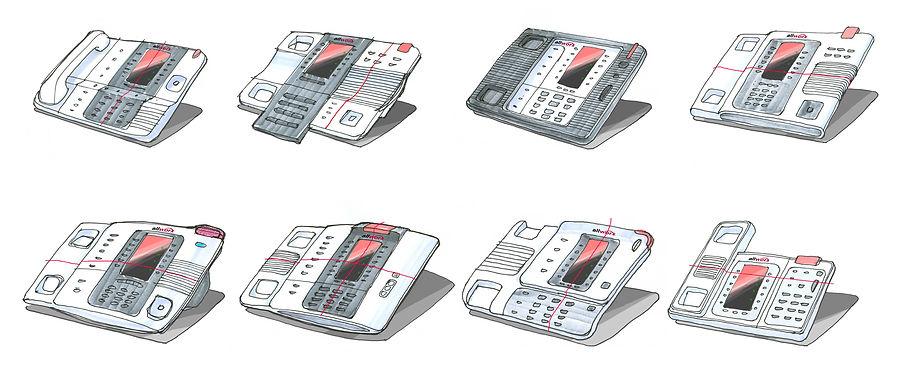 Allworx Verge Phone Design Sketches